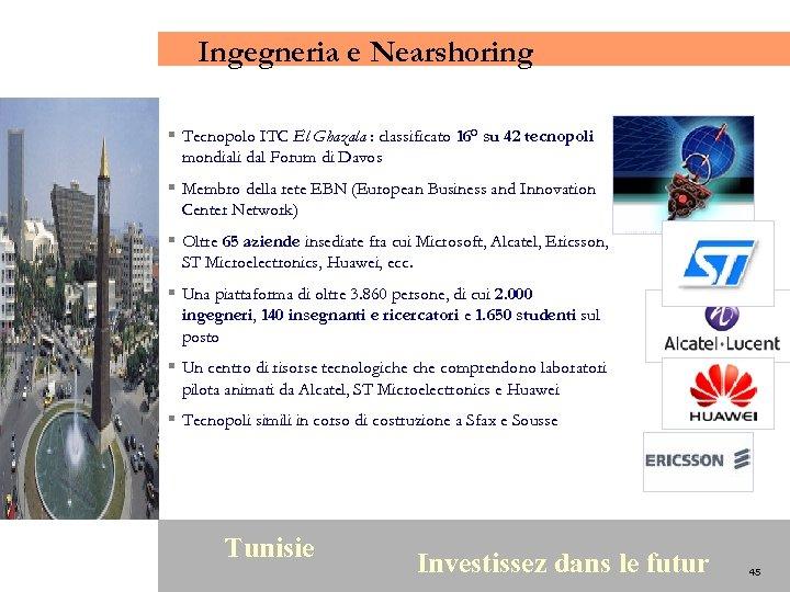 Ingegneria e Nearshoring § Tecnopolo ITC El Ghazala : classificato 16° su 42 tecnopoli
