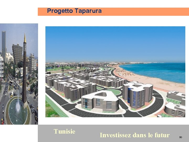 Progetto Taparura 50 Tunisie Investissez dans le futur 50