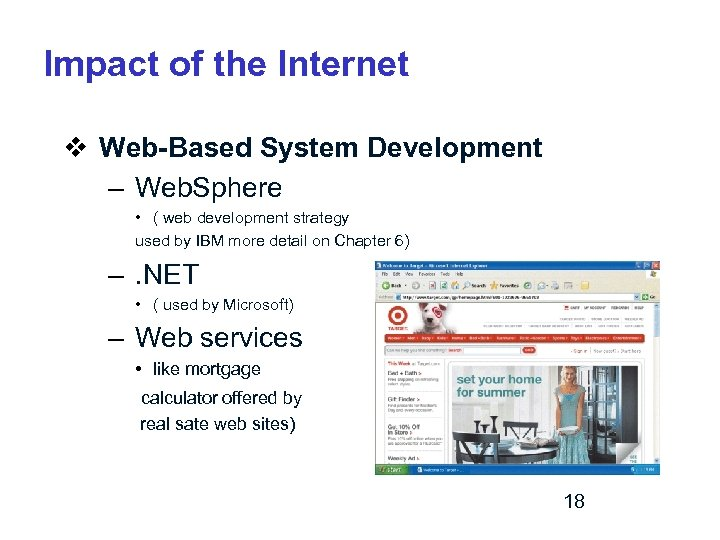 Impact of the Internet v Web-Based System Development – Web. Sphere • ( web