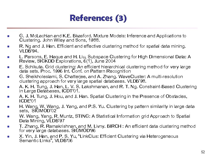 References (3) n n n G. J. Mc. Lachlan and K. E. Bkasford. Mixture