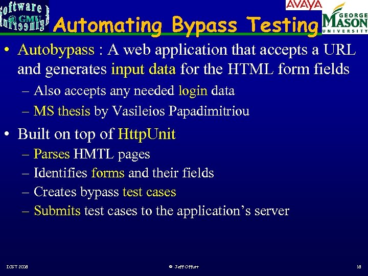 Automating Bypass Testing • Autobypass : A web application that accepts a URL and