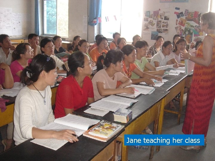 Jane teaching her class