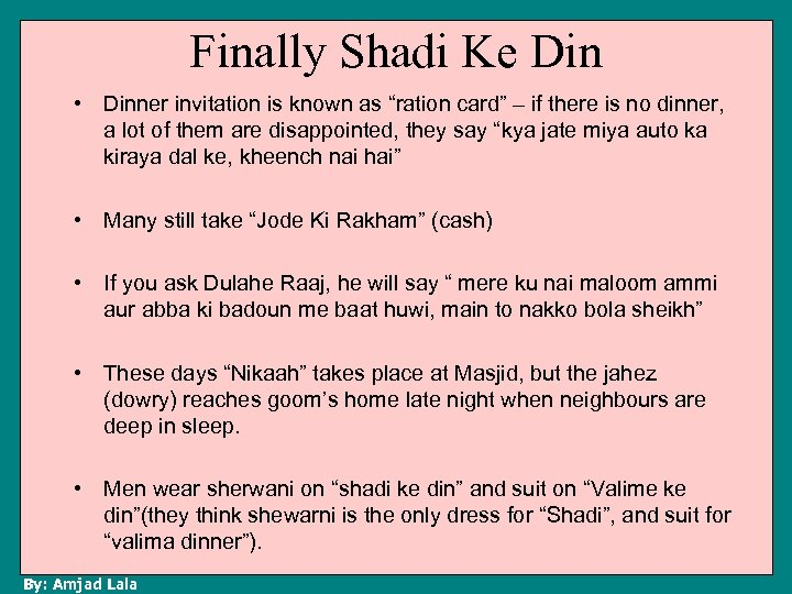 """Finally Shadi Ke Din • Dinner invitation is known as """"ration card"""" – if"""