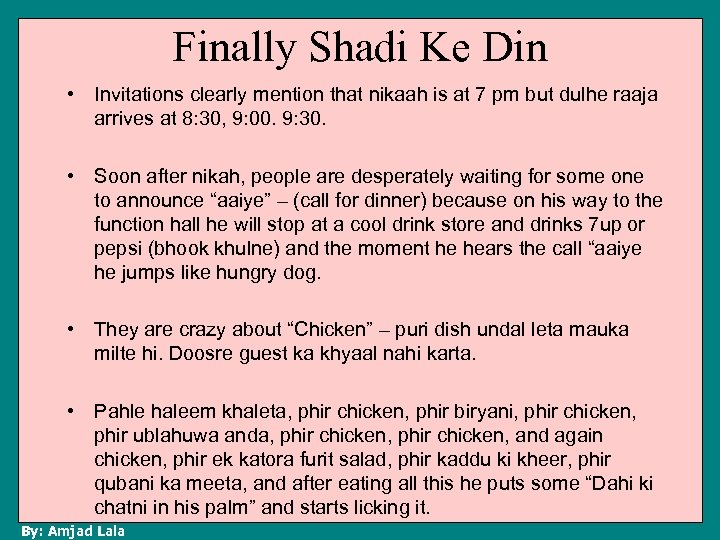 Finally Shadi Ke Din • Invitations clearly mention that nikaah is at 7 pm