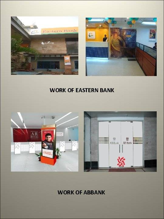WORK OF EASTERN BANK WORK OF ABBANK