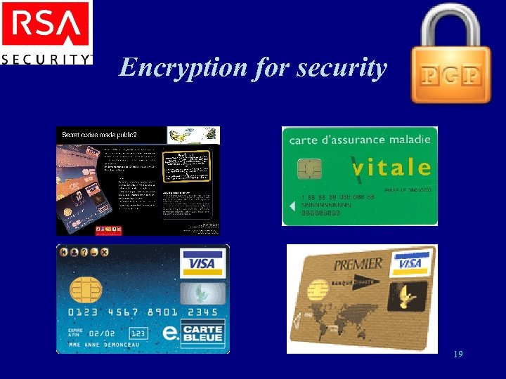 Encryption for security 19