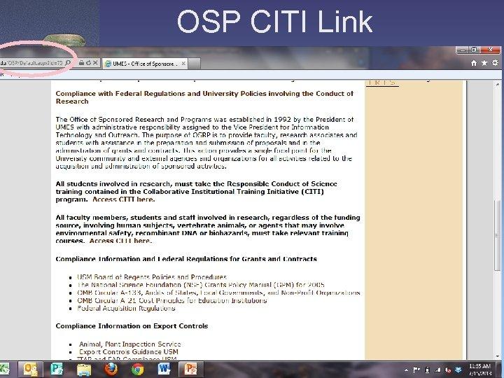 OSP CITI Link
