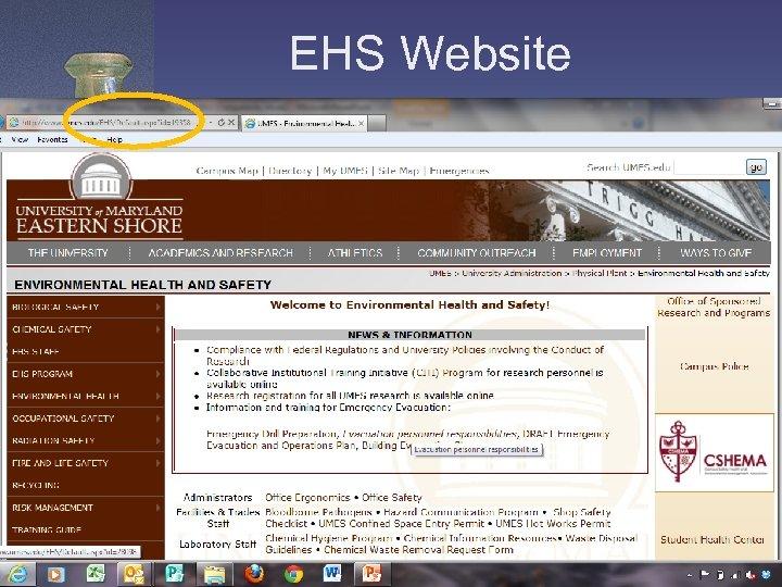 EHS Website