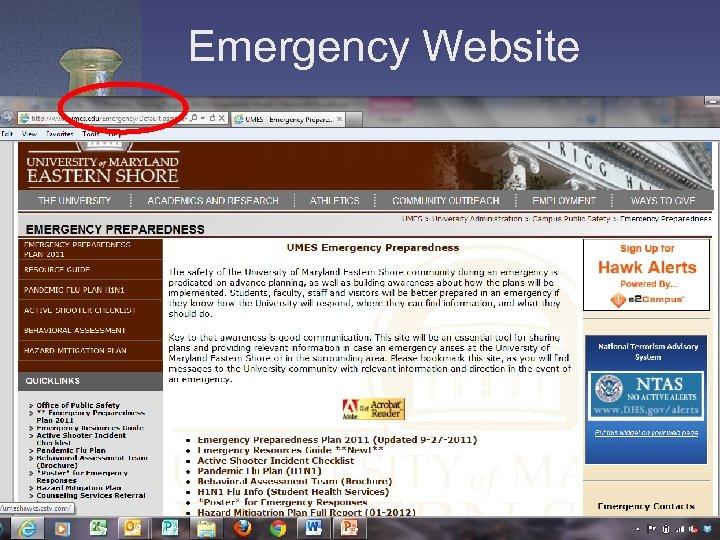 Emergency Website