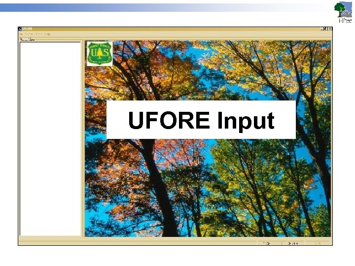 UFORE Input