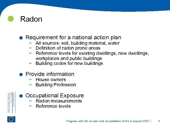 Radon . . . Requirement for a national action plan » » All