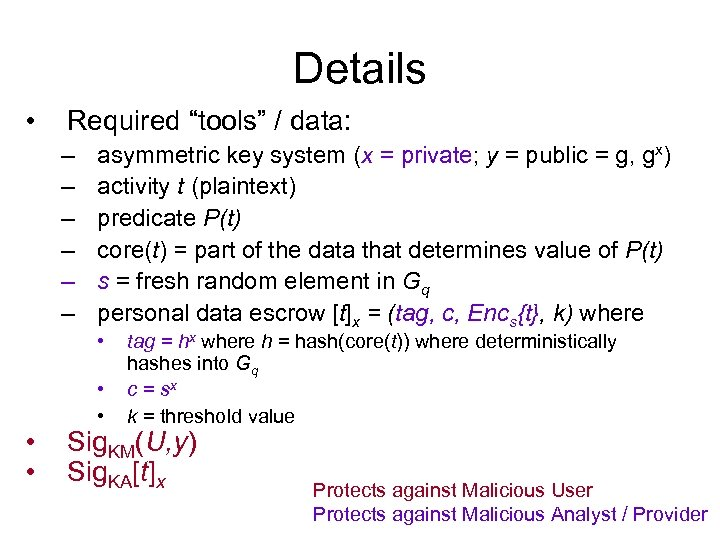 """Details • Required """"tools"""" / data: – – – asymmetric key system (x ="""