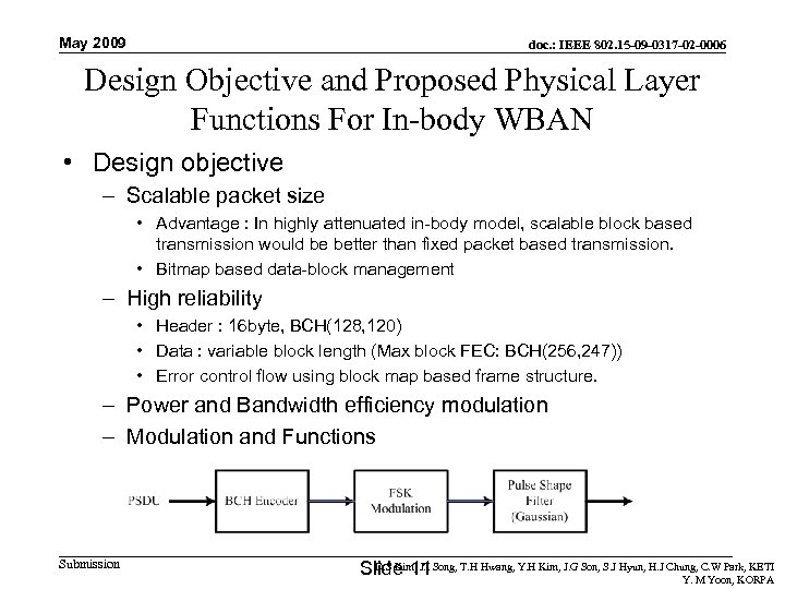 May 2009 doc. : IEEE 802. 15 -09 -0317 -02 -0006 Design Objective and