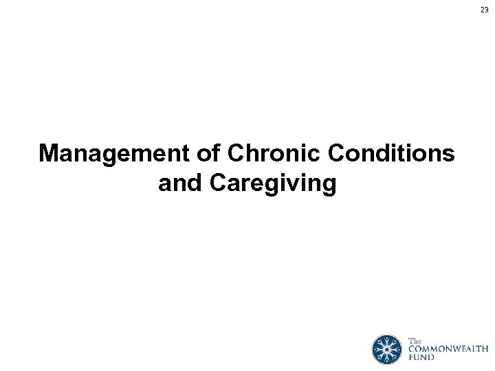 23 Management of Chronic Conditions and Caregiving