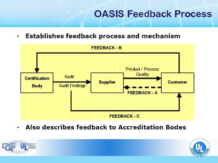 OASIS Feedback Process