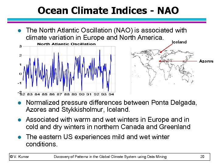 Ocean Climate Indices - NAO l The North Atlantic Oscillation (NAO) is associated with