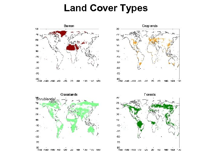 Land Cover Types Shrublands/