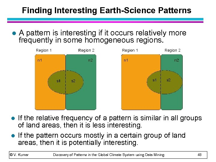 Finding Interesting Earth-Science Patterns l A pattern is interesting if it occurs relatively more
