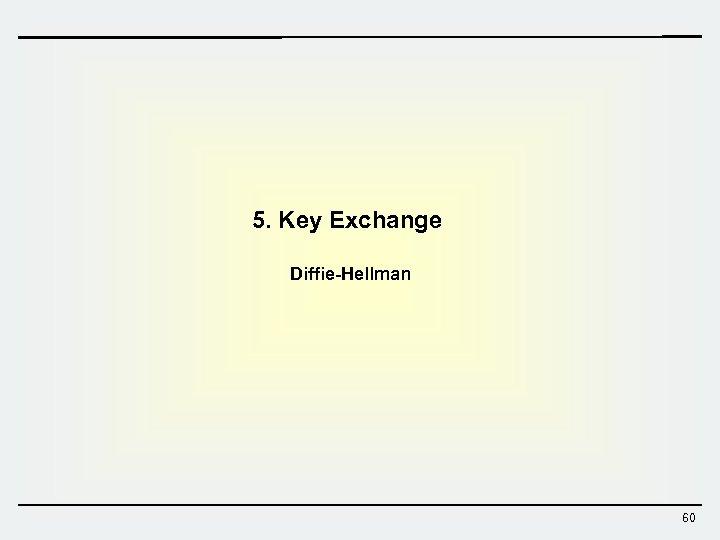 5. Key Exchange Diffie-Hellman 60