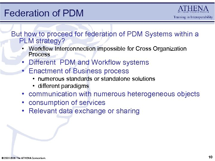 Federation of PDM But how to proceed for federation of PDM Systems within a