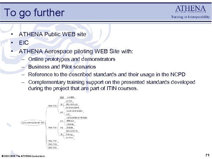 To go further • ATHENA Public WEB site • EIC • ATHENA Aerospace piloting