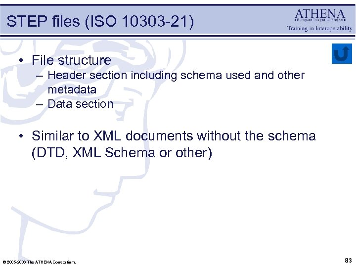 STEP files (ISO 10303 -21) • File structure – Header section including schema used
