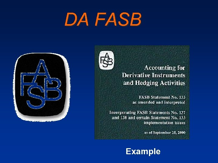 DA FASB Example