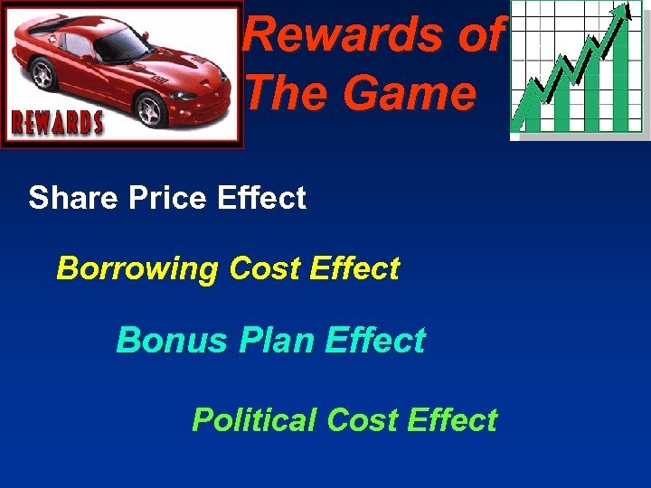 Rewards of The Game Share Price Effect Borrowing Cost Effect Bonus Plan Effect Political