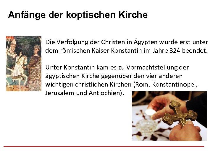 Anfänge der koptischen Afghanistan Kirche Die Verfolgung der Christen in Ägypten wurde erst unter