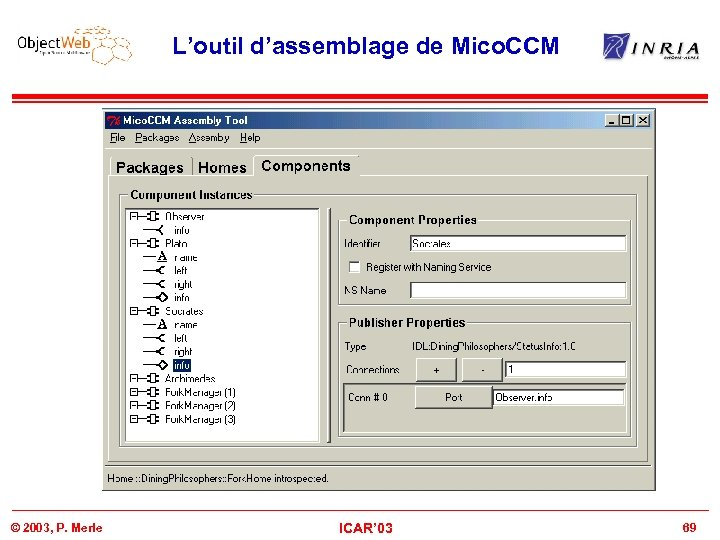 L'outil d'assemblage de Mico. CCM © 2003, P. Merle ICAR' 03 69