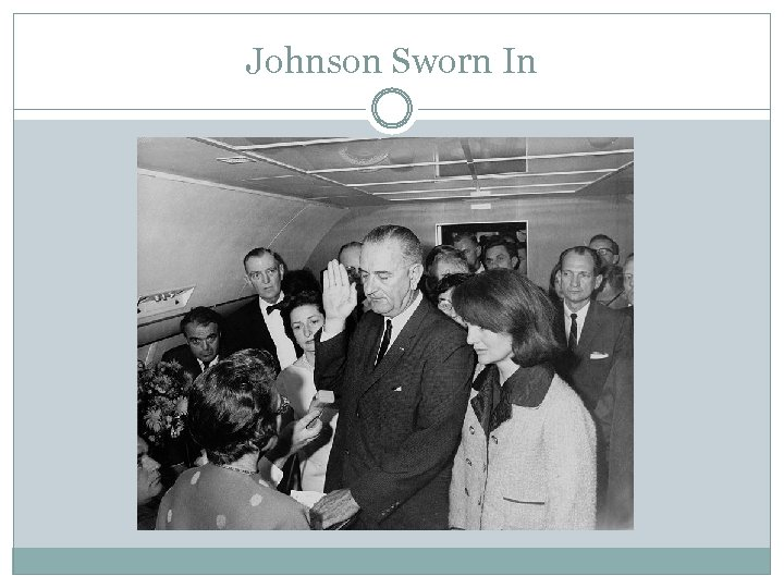 Johnson Sworn In