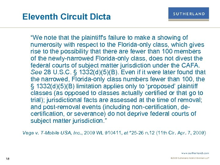 """Eleventh Circuit Dicta """"We note that the plaintiff's failure to make a showing of"""