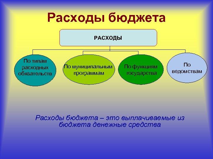 Расходы бюджета РАСХОДЫ По типам расходных обязательств По муниципальным программам По функциям государства По