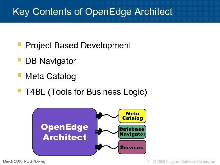 Key Contents of Open. Edge Architect § Project Based Development § DB Navigator §