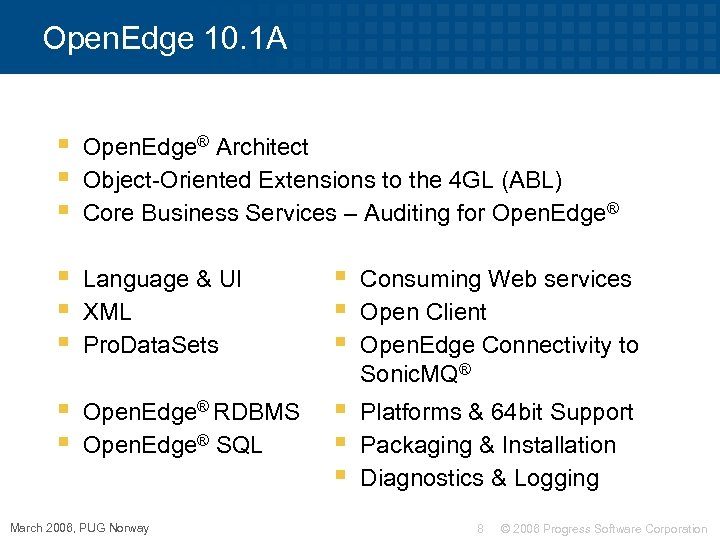 Open. Edge 10. 1 A § § § Open. Edge® Architect Object-Oriented Extensions to