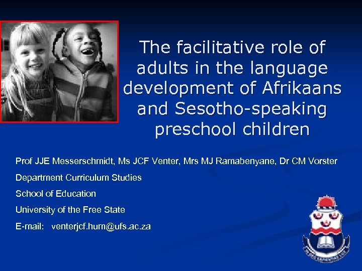 The facilitative role of adults in the language development of Afrikaans and Sesotho-speaking preschool