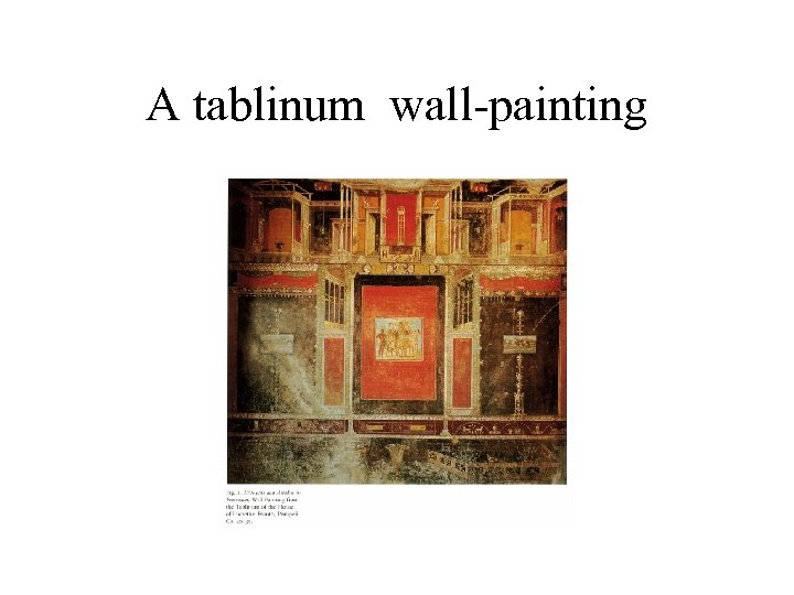 A tablinum wall-painting