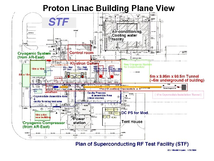 Proton Linac Building Plane View