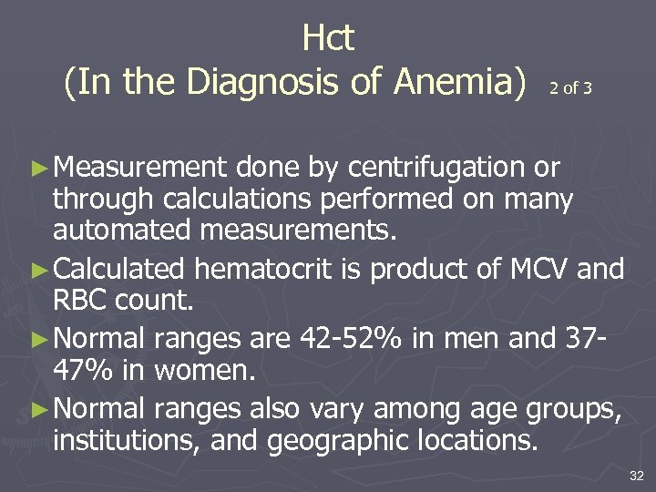 Chapter 4 Anemia Diagnosis and Clinical Considerations 1