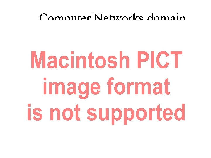 Computer Networks domain