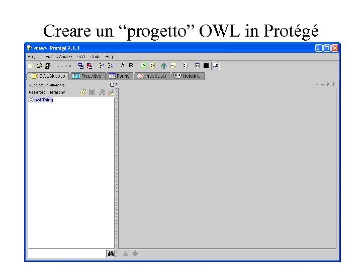"Creare un ""progetto"" OWL in Protégé"