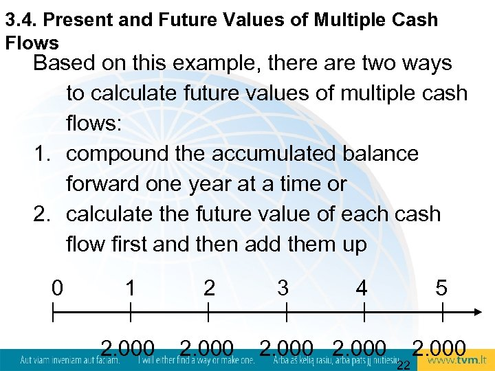 3. 4. Present and Future Values of Multiple Cash Flows Based on this example,