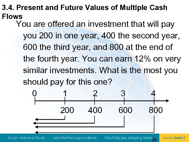 3. 4. Present and Future Values of Multiple Cash Flows You are offered an