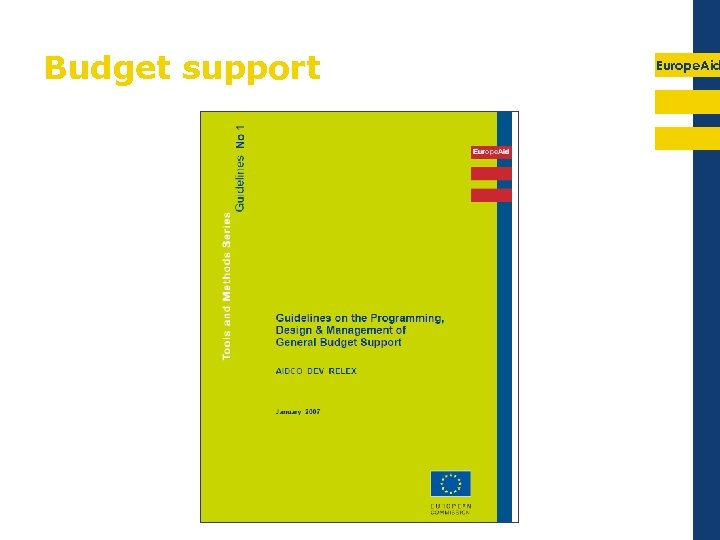 Budget support Europe. Aid