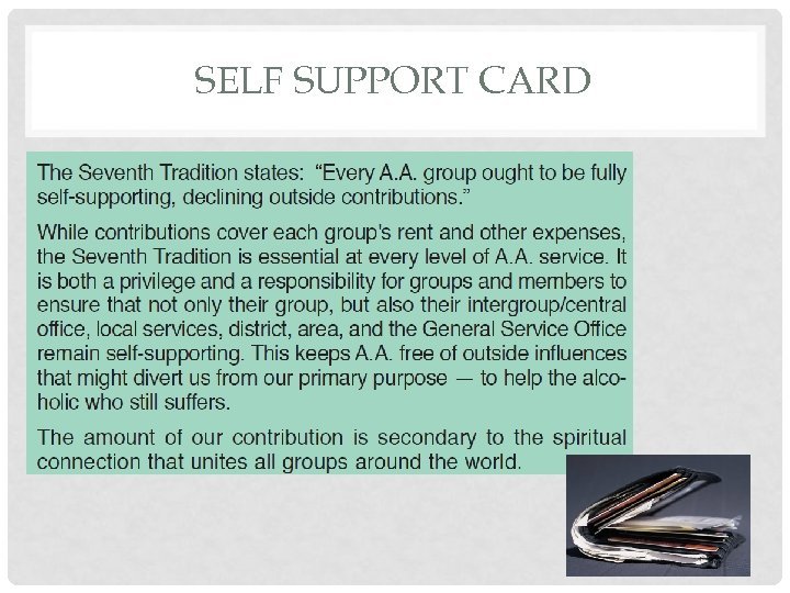 SELF SUPPORT CARD