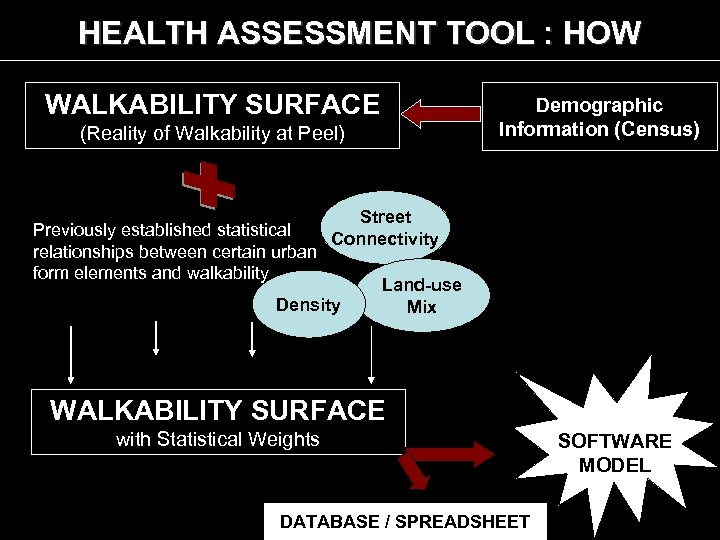 HEALTH ASSESSMENT TOOL : HOW WALKABILITY SURFACE (Reality of Walkability at Peel) Demographic Information