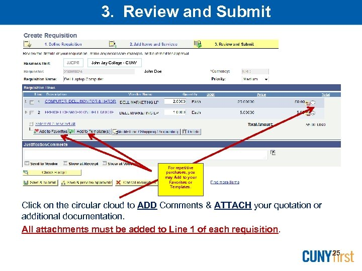 3. Review and Submit JJCPR John Jay College - CUNY John Doe For repetitive