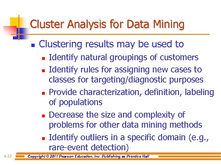 Cluster Analysis for Data Mining n Clustering results may be used to n n