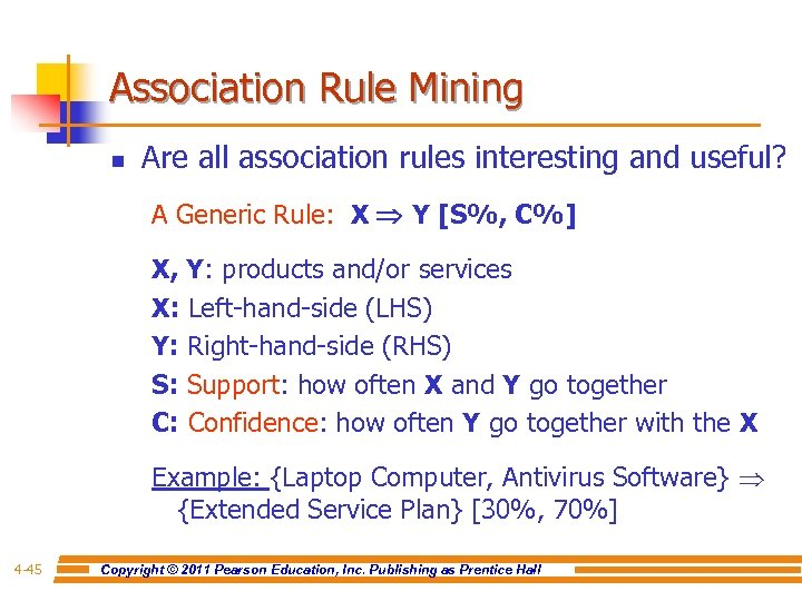 Association Rule Mining n Are all association rules interesting and useful? A Generic Rule: