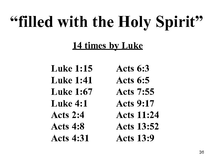 """filled with the Holy Spirit"" 14 times by Luke 1: 15 Acts 6: 3"